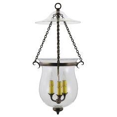 """Meet """"Rondure"""" from the Maker's Mark Collection: a bell jar lantern with a cowl"""