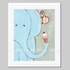 Nursery art print baby nursery decor nursery wall art by rkdsign88, $18.00