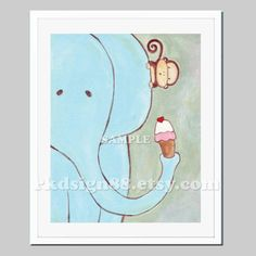 Nursery art print baby nursery decor nursery wall art by rkdsign88, $18.00