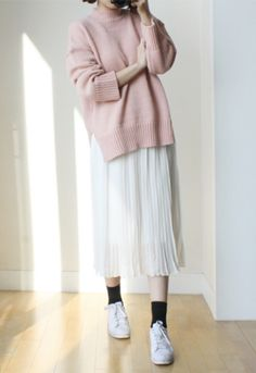 [11Street] PinkDot Chiffon Pleats Skirt