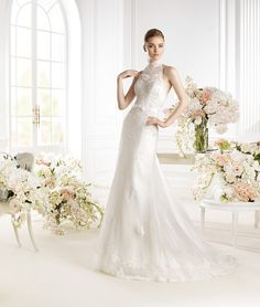 Gorgeous halter neck bridal dress for the sophisticated bride Wedding Dresses 2014, Wedding Dress Shopping, Elegant Wedding Dress, Designer Wedding Dresses, Bridal Dresses, Wedding Gowns, Girls Dresses, Flower Girl Dresses, Bridesmaid Dresses