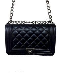 Γυναικεία χιαστί καπιτονέ τσάντα με αλυσίδες λουριά. Κλασικό σχέδιο που θα  το αγαπήσετε! €32 366c2881d50