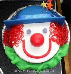 clown cakes pictures | Charlie's Clown Birthday Cake