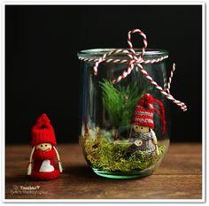 Weihnachtsdeko selbstmachen Deko im Glas