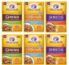 Wellness Healthy Indulgence Grain Free Cat Food 3 Flavor Variety 6 Pouch Bundle: (2) Skipjack Tuna Shrimp Shreds, (2) Turkey Duck Morsels, and (2) Chicken Turkey Gravies, 3 Oz. Ea. (6 Pouches Total) *** Read more reviews of the product by visiting the link on the image. (This is an affiliate link and I receive a commission for the sales)