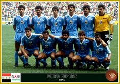 Iraq team group at the 1986 World Cup Finals. World Cup Teams, Fifa World Cup, Mexico 86, Fan Picture, World Cup Final, Football Team, Soccer Teams, Baghdad, Baseball Cards