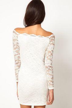 e339dd7b92 Unomatch Womens Slim Skirt Style Pencil Lace Dress White XSmall White   gt  gt  gt