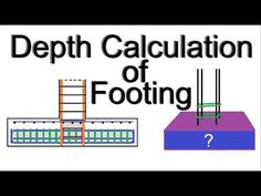 How to calculate depth of footing