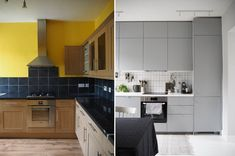 Minimalist kitchen before and after - grey IKEA kitchen - 5 things I'd do differently if I did another home renovation project