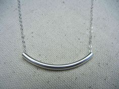 Floating Tube Sterling Silver Necklace  by RedBarberryJewelry, $22.00