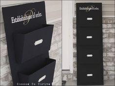 Cardboard organizer tutorial