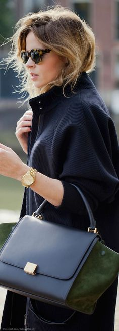 I Want Her Sweater, her hair and Her Chic Classic Celine Handbags | Handbags Style 2017/2018