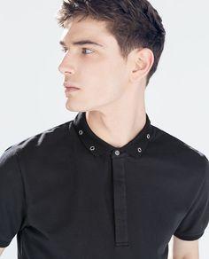 Polo Rugby Shirt, Men's Polo, Mens Half Sleeve, Estilo Dark, Business Casual Dresses, Boys Shirts, Men's Shirts, Tees, Men Design