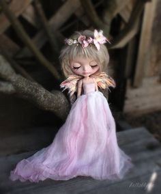 OOAK Custom Blythe Doll Faerie Dress Set by HelloBlythe on Etsy