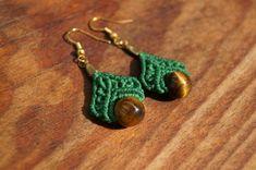 Macrame Earrings, Crochet Earrings, Drop Earrings, Hemp Jewelry, Handmade Jewelry, Macrame Tutorial, Micro Macrame, Knots, Wraps