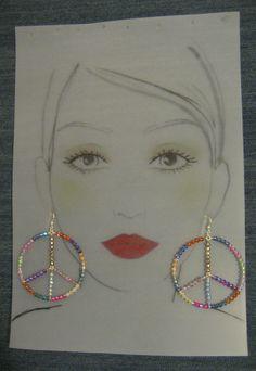 Sterling Silver Peace Earrings #5347