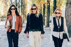 Hedvig Opshaug, Camille Charrière and Courtney Trop, Paris