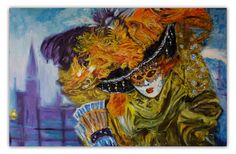 """Painting """"Who are you, Mask?"""" Wall Art, Oil Painting On Canvas, Original Painting, Wall Decor, Fine Art, Artwork by Alex Pelesh. by PeleshArtStudio on Etsy"""