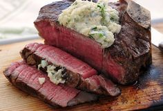 Cedar-Planked Bone-In Filets with Horseradish Crab Butter!!!