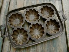 Cast Iron Muffin Pan.