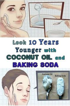 Make yourself this natural cleanser to get rid of wrinkles and sagging facial skin. The mix of coconut oil and baking soda penetrates into the pores and eliminates the acne and blackheads. This remedy exfoliates your skin and removes extra oil.