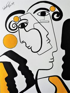 Line Art, Cubist Art, Abstract Face Art, Pablo Picasso, Art Drawings Sketches, Creative Art, Art Inspo, Wall Art Prints, Pop Art