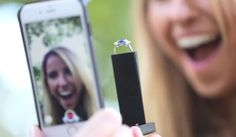 This Super-Extra Engagement Ring Smartphone Case Delivers the Ultimate Proposal Selfie