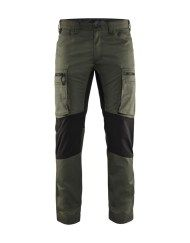 Blaklader 1459 Green workwear stretch trousers fast dry