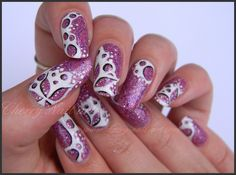 nail art abstrait bulles fleur