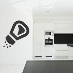 Vinilo decorativo con la imagen de un salero. Ideal para cocinas. Masquevinilo.com
