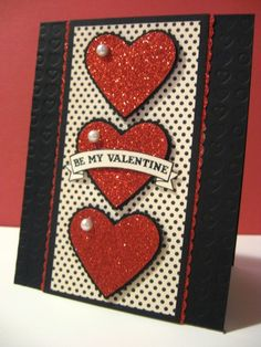 Triple Heart Valentine by Lianne Carper - Cards and Paper Crafts at Splitcoaststampers