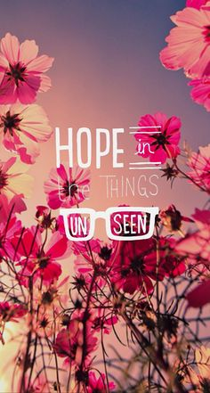Hope - Beautiful Typography iPhone wallpapers @mobile9