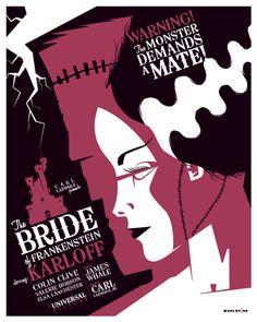 bride of frankenstein poster by *strongstuff on deviantART