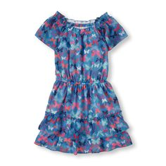 The Childrens Place - This sweet silhouette features a pretty print and a ruffle hem.