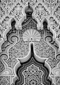 Moroccan floral and lacy architecture