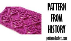 pattern from history purple heart from 1987 Knitting Blogs, Knitting Patterns, Patterned Sheets, S Word, Swatch, Give It To Me, History, Purple, Heart
