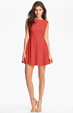 French Connection Extended Sleeve Ponte Fit & Flare Dress available at #Nordstrom