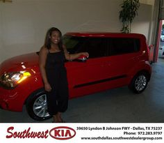 Happy Anniversary to Ashley Bell on your 2012 Kia Soul  from Bret Barrow and everyone at Southwest Kia Dallas!