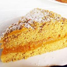 Zitronen Kürbis Polenta Kuchen (Vegan, Glutenfrei, ohne Öl, Low-Fat)