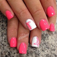 Pink love nails for date nite. Get Nails, Fancy Nails, Love Nails, Gorgeous Nails, Pretty Nails, Nagel Gel, Creative Nails, Holiday Nails, Nails Inspiration