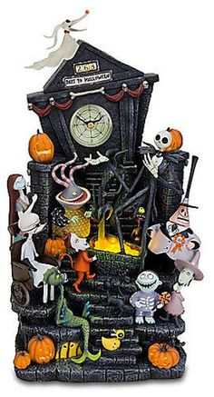 Disney Store Nightmare Before Christmas Light Up Mantle Clock
