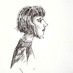 Inktober XXI - Big 2 (Nose)  #inktober #art #artoftheday #instaart #instaartist #instadraw #instadoodle #instasketch #artstagram #artist #ink #artistpen #artistoninstagram #fabercastell #ballpointpen #inktober2016  #doodle #sketch #illustration #sketchoftheday #doodleoftheday #inkdrawing #bignose #bob #bobhaircut