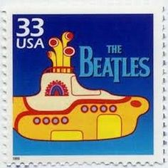 Five Beatles Yellow Submarine Stamps . Unused US Postage Stamps . Rock and Roll