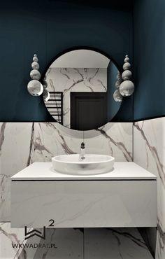 Łazienka gościnna w domku jednorodzinnym pod Toruniem @wkwadrat @torunpodklucz Bathroom Lighting, Mirror, Furniture, Home Decor, Bathroom Light Fittings, Bathroom Vanity Lighting, Decoration Home, Room Decor, Mirrors