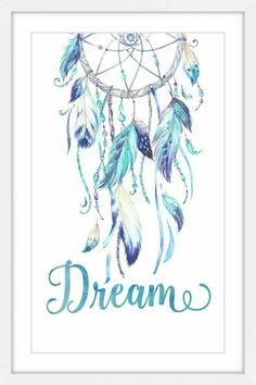 really pretty feathers - again without the writing Dreamcatcher Wallpaper, Watercolor Dreamcatcher, Painting Frames, Painting Prints, Art Prints, Paintings, Framed Canvas Prints, Canvas Frame, Dream Catcher Drawing