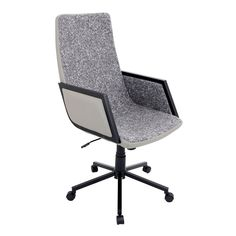 LumiSource Governor Contemporary Office Chair (Grey), Black #OfficeChair