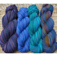 More new handspun yarns listed on Etsy. These are all BFL or Silk/Merino blend.