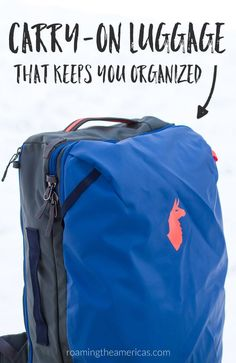 Carry-on only luggage   Convertible suitcase backpack   Travel backpack review   Cotopaxi Allpa 35L travel pack   travel gear for road trips #travel #traveltips #travelgear  via @roamtheamericas