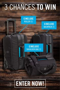 Carrying camera gear can be painful, but Tenba has the cure. Enter to win 1 of 3 bags – it's just what the doctor ordered!