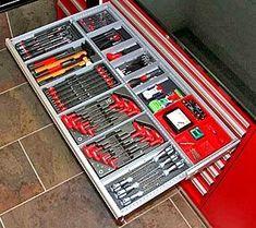 66 ideas tool storage ideas toolbox garage for 2019 Workshop Storage, Workshop Organization, Garage Workshop, Garage Organization, Garage Storage, Tool Storage, Storage Ideas, Organized Garage, Garage Tools